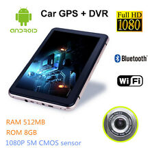 "HD 7"" GPS 8GB 512MB Android Car Navigation System WIFI w/ Back Camera Car DVR"