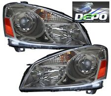 Dark Chrome Head Lights Lamp DEPO Fits 05-06 Nissan Altima