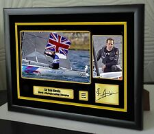Ben Ainslie sailor édition limitée encadrée toile hommage estampe signée grand cadeau