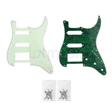 2pcs Guitar Pickguard Scratch Plate For Strat Replacement HSS 3Ply  With Screws