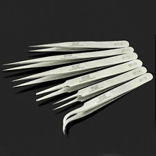 6x High Quality Stainless Steel Tweezers For Electronics/Eyelash Extension Tools