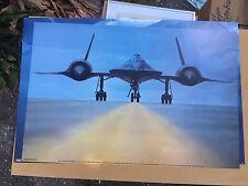 Rare Vintage SR-71 Lockheed Supersonic Jet Spy Plane Fastest on Earth lg Poster