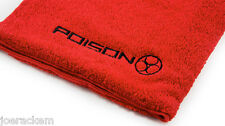 2015 Red Poison Billiard Towel with Hanging Clasp for Your Case - 100% Cotton