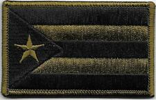 "2""x3 1/4"" Puerto Rico Left Arm Woodland Dark Green Black Flag Patch"