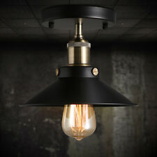 Black Ceiling Mount Light Vintage Chandelier Edison Lamp Fixtures Lighting