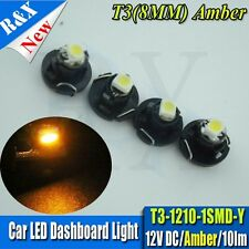 10X T3 Neo Wedge 8mm Base Amber 1210 LED SMD Dashboard Climate Panel Lamps 10LM