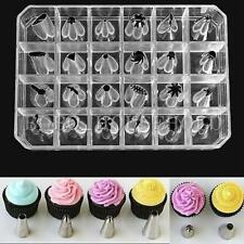 Hot 24 Pcs Icing Piping Nozzles Pastry Tips Cake Sugarcraft Decor Tool Set Tool