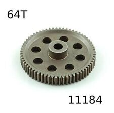 11184 CORONA METALLO 64 DENTI (64T) MODULO 0.6 1/10 OFF-ROAD 11164 HIMOTO 1pz