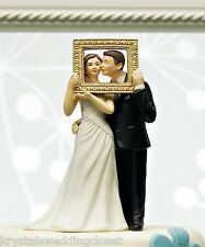 """""""Picture Perfect"""" Couple Wedding Cake Topper Custom Colors Available"""