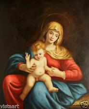 """Oil Painting On Stretched Canvas 20""""x 24""""- Madonna and Child"""
