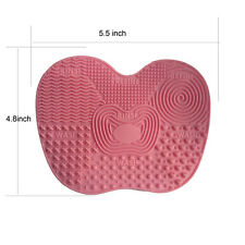 Silicone Makeup Brush Cleaner Cleaning Cosmetic Scrubber Board Mat Pad Tool Pink