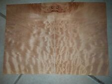 "2 pieces quilted maple raw wood veneer pillow 10 1/2"" x 7 3/8"" Luthier guitar"