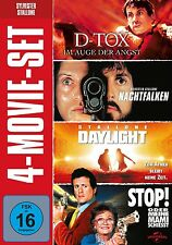 SYLVESTER STALLONE - 4 MOVIE SET (D-TOX/DAYLIGHT/NACHTFALKEN/+)  4 DVD NEU