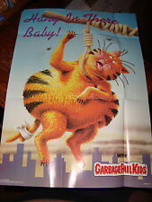 """1986 GARBAGE PAIL KIDS poster GPK #2 Hang in there Baby approx 12"""" x 17"""" cat aa"""