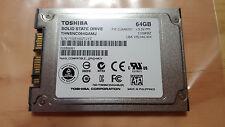 """Motion Computing J3400 J3500 1.8"""" uSATA 64gb SSD Toshiba THNSNC064GAMJ Dell XT2"""