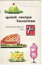 1960's Quick Recipe Favorites 7up Booklet