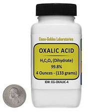Oxalic Acid [C2H2O4] 99.8% ACS Grade Powder 4 Oz in a Space-Saver Bottle USA