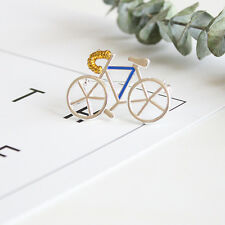 Dot & Line silver enamel bicycle bike lovely brooches pins