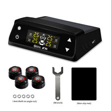 Wireless Car TPMS Tire Tyre Pressure Monitor Alarm System +4 Sensors Display