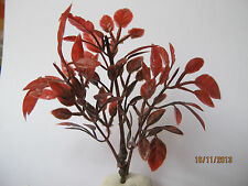 Miniature Red Maroon Colour Leaves Plant Bush Tree Doll house tiny-craft R1