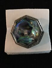 Judith Jack Sterling Silver 925 Marcasite Abalone Ring Size 7 Valentine's gift!