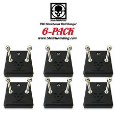 6-PACK Skateboard Wall Hanger Mount Rack Vintage Long Santa Cruz Powell Roskopp