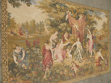Large Stunning French Antique Tapestry Rare 199X138cm (A345)