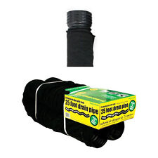 """50510 Perforated Corrugated Flexible Landscape Drain Pipe with Sock, 4"""" x 25'"""