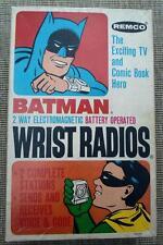 DC Comics Boxed batman 1966 Vintage Wrist Radios Remco Electronic style 795