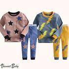 """2Pcs Vaenait Baby Infant Toddler Kid Boy Indoor Clothes Sleepwear Pajama""""Rodini"""""""
