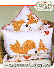 Foxies-Applique Cucire Craft pattern-Cuscino shabby chic Fox