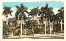 Fort Myers Florida Royal Palm Hotel Antique Postcard (J17802)