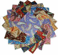 75  4 inch Quilting Fabric Squares Paisley, Paisley and more Paisley!!!4""