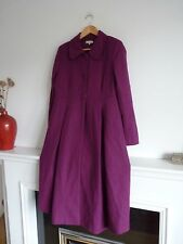 Ladies Lovely JoJo Maman Bebe Purple Maternity Wool Mix Coat Size 10, Vgc