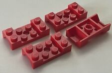 *NEW* 4 Pieces Lego RED MUD GUARD 2x4 WITH ARCH STUDDED WITH HOLE 60212