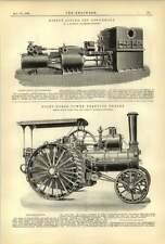 1893 Royal Sovereign Paddle Steamer Plans 8 Hp Traction Engine