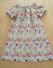 Girl's Age 12-18 Months Liberty of London Handmade Cotton Dress, D'Anjo Fabric