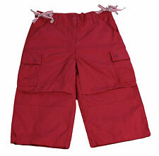 JACADI Girl's Message Bright Red 3/4 Length Trousers Age: 10 Years NWT $60