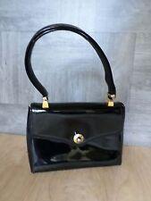 KORET vintage 60s black patent leather evening formal frame ladylike bag