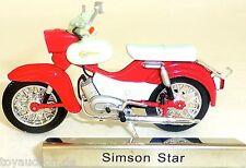 Simson Star Motorrad Mofa rot DDR 1:24 ATLAS 7168120 NEU OVP LA2 µ