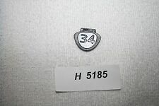 Ping  # 34 Number Tag Fits G5 G10 G15 K15 G20 Rapture & V2 Headcovers NEW #5185