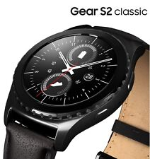 Samsung Gear S2 Classic Smartwatch 40mm Stainless Steel -SM-R7320  Black Leather