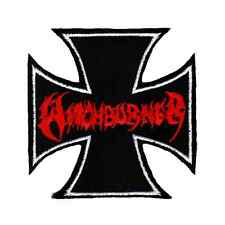 WITCHBURNER Patch LOGO / IRON CROSS Aufnäher ♫ Thrash Metal ♫