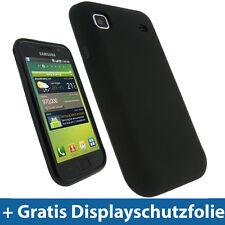 Schwarz TPU Gel Tasche für Samsung i9000 Galaxy S Android Skin Hülle Case Etui