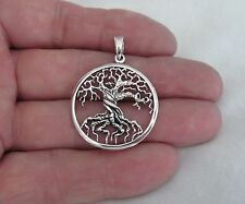 Sterling Silver 34mm tree of life pendant