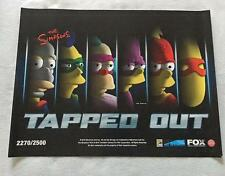 "THE SIMPSONS TAPPED OUT -18""x24"" Original Promo Poster SDCC 2016 MINT XXXX/2500"