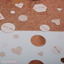 Wedding Table Confetti - Rose Gold Text
