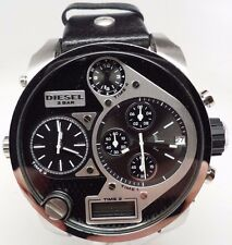 Diesel DZ7125 Black Dial Chronograph Dual Men's Watch Time 4 and 2 Needs Repair