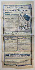 "Bruges Belgium 1932 Concert Program with Advertisements, ""Kosteloos Programma"""