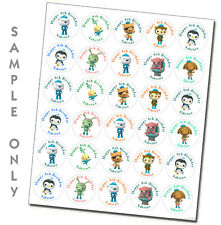 30 personalized Octonauts stickers labels great birthday party favors decoration